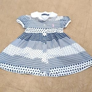 Size 1 Ralph Lauren spotty collared dress